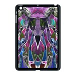 Sly Dog Modern Grunge Style Blue Pink Violet Apple iPad Mini Case (Black) Front