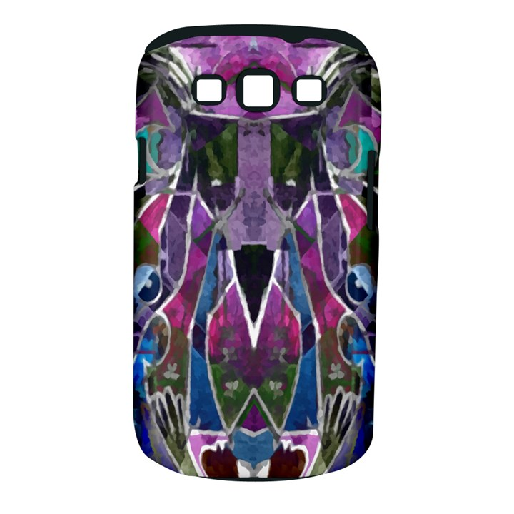 Sly Dog Modern Grunge Style Blue Pink Violet Samsung Galaxy S III Classic Hardshell Case (PC+Silicone)