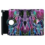 Sly Dog Modern Grunge Style Blue Pink Violet Apple iPad 2 Flip 360 Case Front
