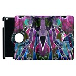 Sly Dog Modern Grunge Style Blue Pink Violet Apple iPad 3/4 Flip 360 Case Front