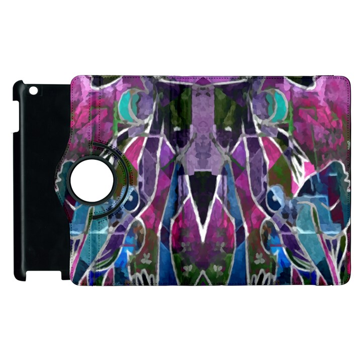 Sly Dog Modern Grunge Style Blue Pink Violet Apple iPad 3/4 Flip 360 Case