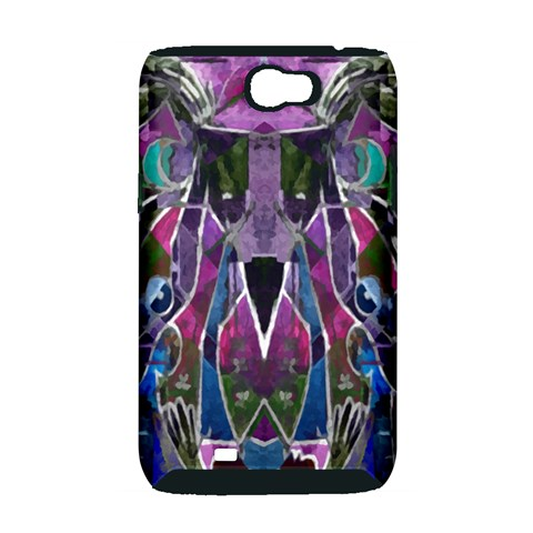 Sly Dog Modern Grunge Style Blue Pink Violet Samsung Galaxy Note 2 Hardshell Case (PC+Silicone)