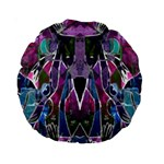 Sly Dog Modern Grunge Style Blue Pink Violet Standard 15  Premium Round Cushions Back
