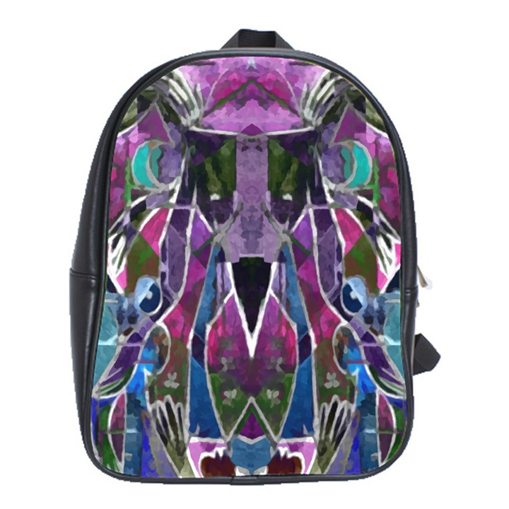 Sly Dog Modern Grunge Style Blue Pink Violet School Bags (XL)