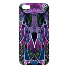 Sly Dog Modern Grunge Style Blue Pink Violet Apple Iphone 5 Premium Hardshell Case