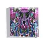 Sly Dog Modern Grunge Style Blue Pink Violet 4 x 4  Acrylic Photo Blocks Front