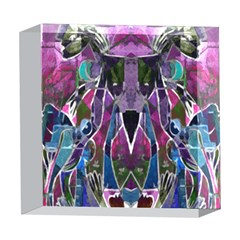 Sly Dog Modern Grunge Style Blue Pink Violet 5  x 5  Acrylic Photo Blocks