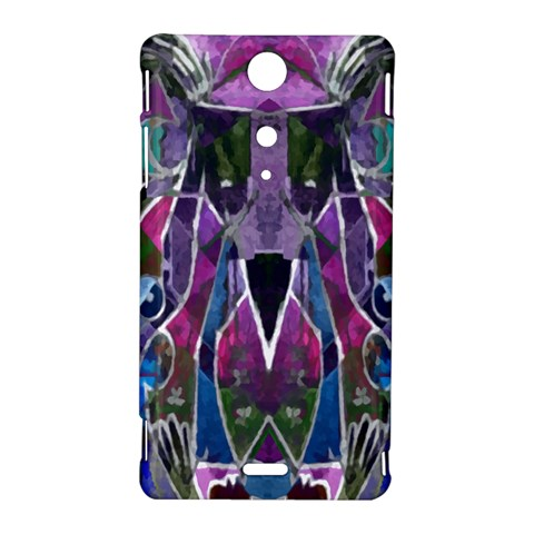 Sly Dog Modern Grunge Style Blue Pink Violet Sony Xperia TX