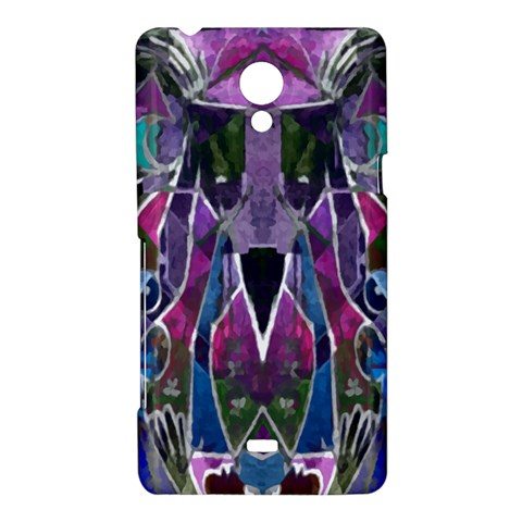 Sly Dog Modern Grunge Style Blue Pink Violet Sony Xperia T