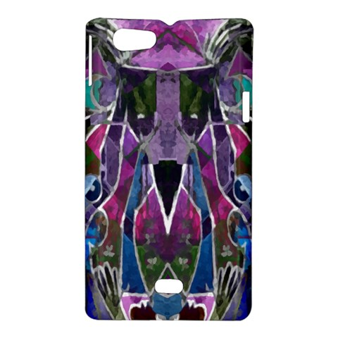 Sly Dog Modern Grunge Style Blue Pink Violet Sony Xperia Miro