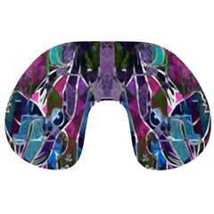 Sly Dog Modern Grunge Style Blue Pink Violet Travel Neck Pillows
