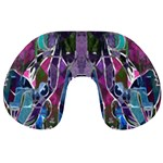 Sly Dog Modern Grunge Style Blue Pink Violet Travel Neck Pillows Front