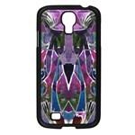 Sly Dog Modern Grunge Style Blue Pink Violet Samsung Galaxy S4 I9500/ I9505 Case (Black) Front