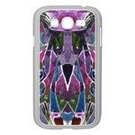 Sly Dog Modern Grunge Style Blue Pink Violet Samsung Galaxy Grand DUOS I9082 Case (White) Front