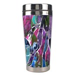 Sly Dog Modern Grunge Style Blue Pink Violet Stainless Steel Travel Tumblers Left