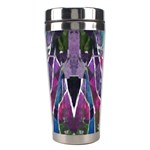 Sly Dog Modern Grunge Style Blue Pink Violet Stainless Steel Travel Tumblers Center