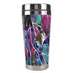 Sly Dog Modern Grunge Style Blue Pink Violet Stainless Steel Travel Tumblers Right
