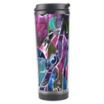 Sly Dog Modern Grunge Style Blue Pink Violet Travel Tumbler Left