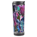 Sly Dog Modern Grunge Style Blue Pink Violet Travel Tumbler Right