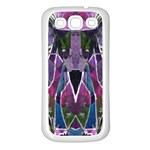 Sly Dog Modern Grunge Style Blue Pink Violet Samsung Galaxy S3 Back Case (White) Front