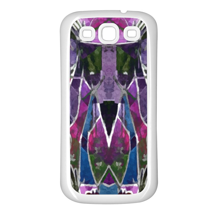 Sly Dog Modern Grunge Style Blue Pink Violet Samsung Galaxy S3 Back Case (White)