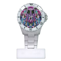 Sly Dog Modern Grunge Style Blue Pink Violet Plastic Nurses Watch