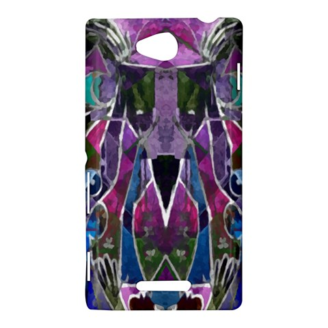 Sly Dog Modern Grunge Style Blue Pink Violet Sony Xperia C (S39H)