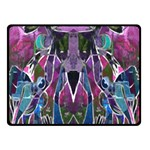 Sly Dog Modern Grunge Style Blue Pink Violet Double Sided Fleece Blanket (Small)  50 x40 Blanket Back