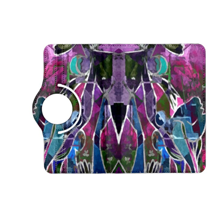 Sly Dog Modern Grunge Style Blue Pink Violet Kindle Fire HD (2013) Flip 360 Case