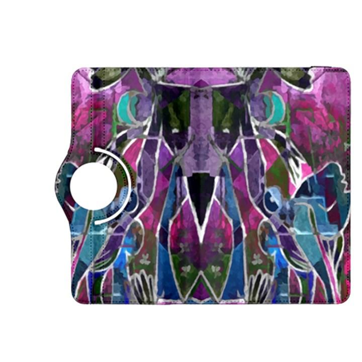 Sly Dog Modern Grunge Style Blue Pink Violet Kindle Fire HDX 8.9  Flip 360 Case