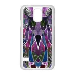 Sly Dog Modern Grunge Style Blue Pink Violet Samsung Galaxy S5 Case (White)