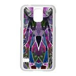 Sly Dog Modern Grunge Style Blue Pink Violet Samsung Galaxy S5 Case (White) Front