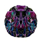 Sly Dog Modern Grunge Style Blue Pink Violet Standard 15  Premium Flano Round Cushions Back