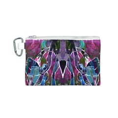 Sly Dog Modern Grunge Style Blue Pink Violet Canvas Cosmetic Bag (S)