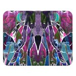 Sly Dog Modern Grunge Style Blue Pink Violet Double Sided Flano Blanket (Large)  80 x60 Blanket Front