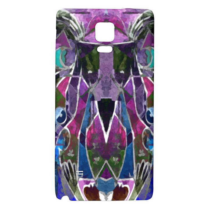 Sly Dog Modern Grunge Style Blue Pink Violet Galaxy Note 4 Back Case