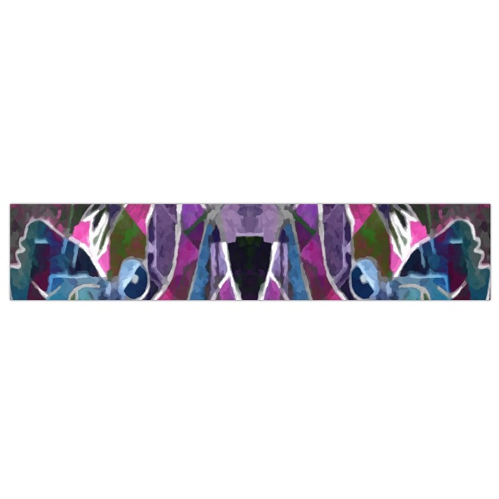 Sly Dog Modern Grunge Style Blue Pink Violet Flano Scarf (Small)