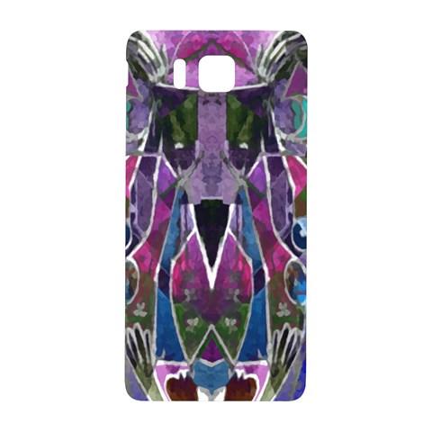 Sly Dog Modern Grunge Style Blue Pink Violet Samsung Galaxy Alpha Hardshell Back Case