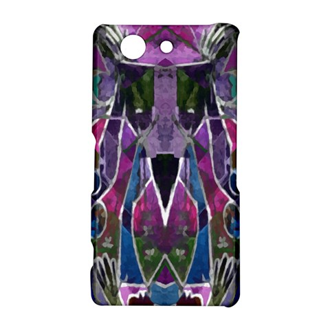 Sly Dog Modern Grunge Style Blue Pink Violet Sony Xperia Z3 Compact