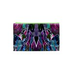 Sly Dog Modern Grunge Style Blue Pink Violet Cosmetic Bag (XS) Front
