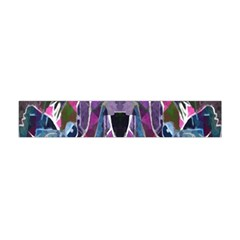 Sly Dog Modern Grunge Style Blue Pink Violet Flano Scarf (Mini)