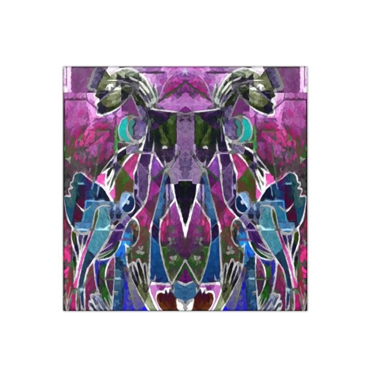 Sly Dog Modern Grunge Style Blue Pink Violet Satin Bandana Scarf
