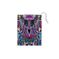 Sly Dog Modern Grunge Style Blue Pink Violet Drawstring Pouches (XS)