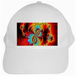 Crazy Mandelbrot Fractal Red Yellow Turquoise White Cap Front