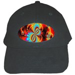 Crazy Mandelbrot Fractal Red Yellow Turquoise Black Cap Front