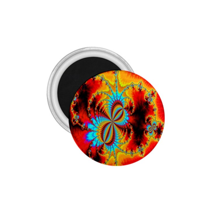 Crazy Mandelbrot Fractal Red Yellow Turquoise 1.75  Magnets