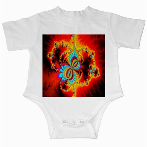 Crazy Mandelbrot Fractal Red Yellow Turquoise Infant Creepers