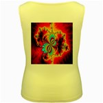 Crazy Mandelbrot Fractal Red Yellow Turquoise Women s Yellow Tank Top Back