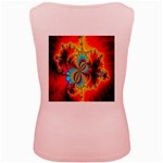 Crazy Mandelbrot Fractal Red Yellow Turquoise Women s Pink Tank Top Back