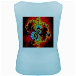 Crazy Mandelbrot Fractal Red Yellow Turquoise Women s Baby Blue Tank Top Back